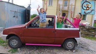 Дети и машина. Тюнинг машинки из мультика Маша и Медведь. МашаМобиль #8