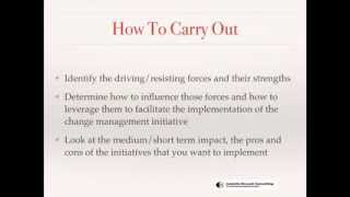 CHANGE MANAGEMENT - FORCE FIELD ANALYSIS