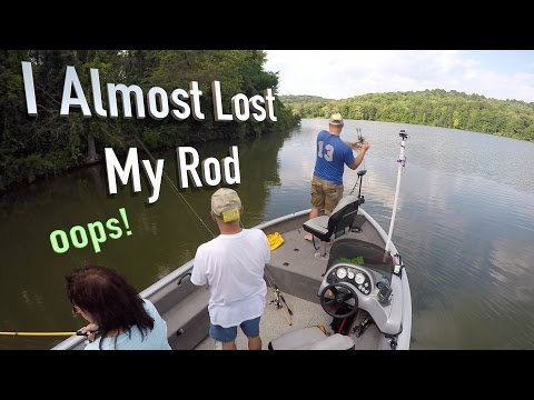 Summer Bass Fishing at Moraine State Park  (Lake Arthur)