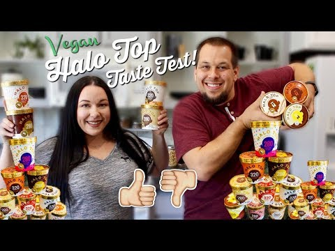 Taste Testing VEGAN HALO TOP Ice Cream!! | Hits & Misses!