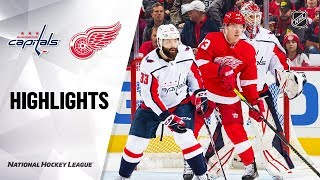 вашингтон vs Детройт  Detroit Red Wings at Washington Capitals  NHL HIGHLIGHTS  НХЛ ОБЗОР МАТЧА