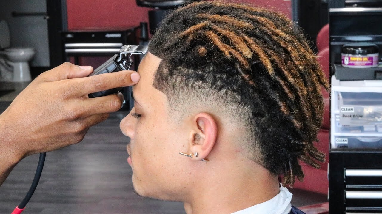 haircut tutorial: dreads | mohawk | how to create a line up in the