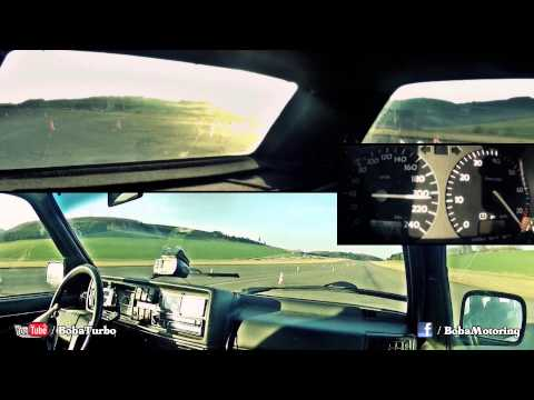 VW Golf Mk2 AWD 1150HP 0-250km/h onboard from Boba-Motoring
