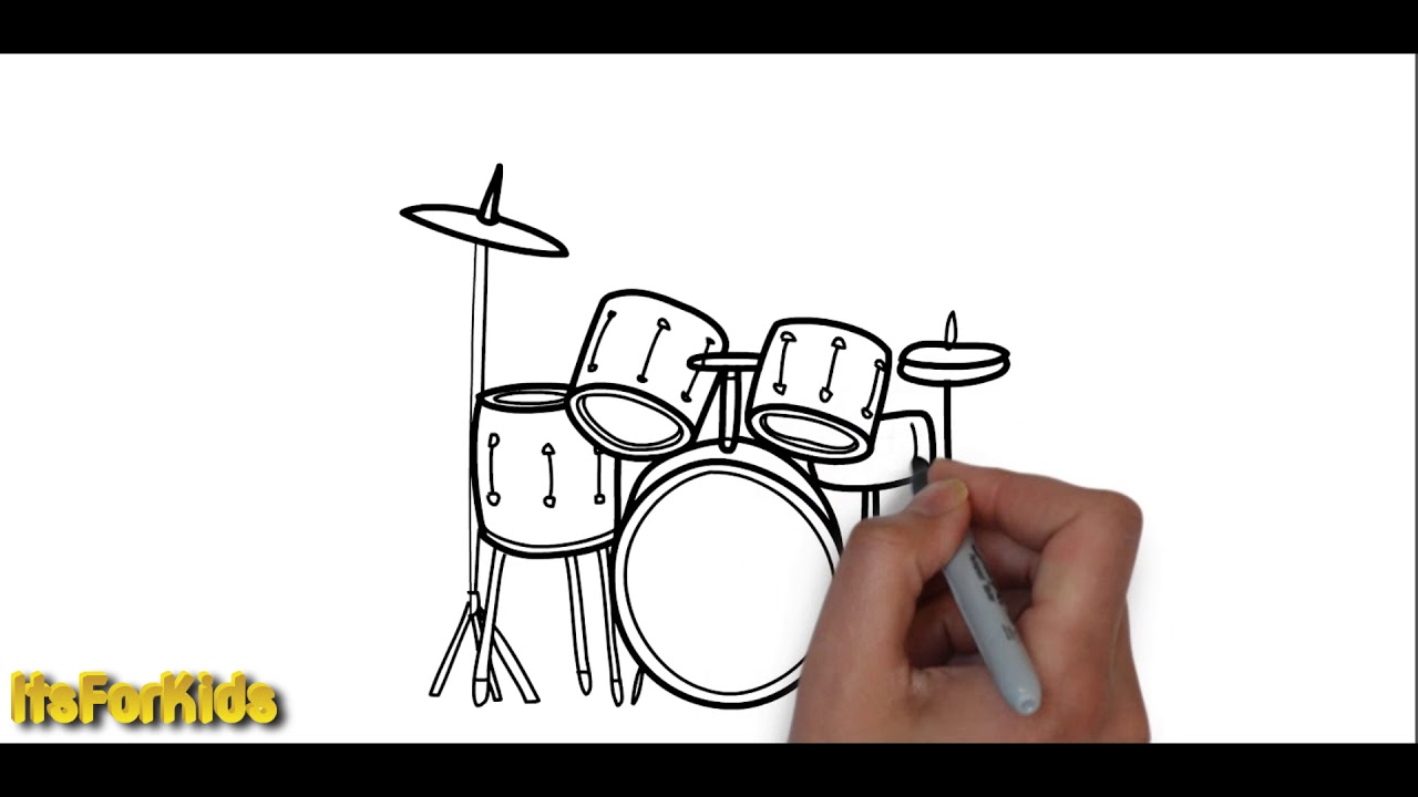 how to draw musical instruments for kids | itsforkids - youtube