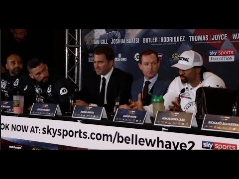 HEATED!! - TONY BELLEW v DAVID HAYE -  *FULL & UNCUT* FINAL PRESS CONFERENCE / REPEAT OR REVENGE