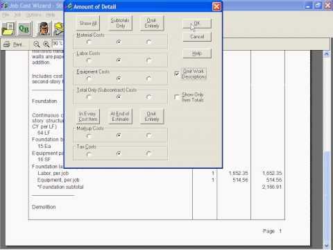 National Construction Estimator Estimates Invoice Details Naming - Construction estimate and invoice software