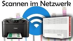 Anleitung: auf Netzwerkordner Scannen (Canon & AVM Fritz!Box)