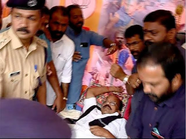 BJP Leader A N Radhakrishnan hospitalized