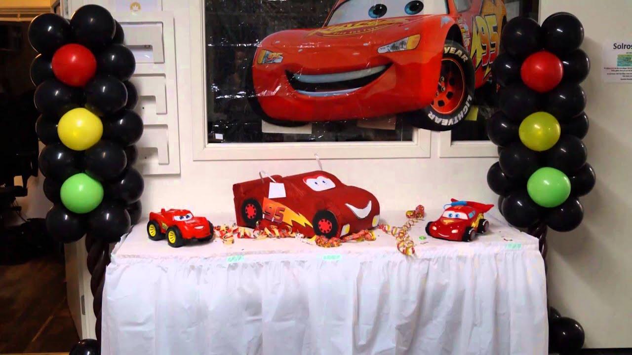Decoracion Infantil De Cars ~ decoracion de fiesta rayo macqueen  YouTube