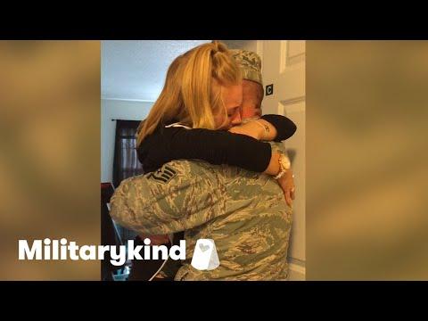 Soldier brings daughter to tears   Militarykind