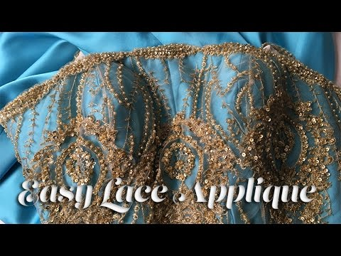 J stern designs l prom gown sew along easy lace applique youtube