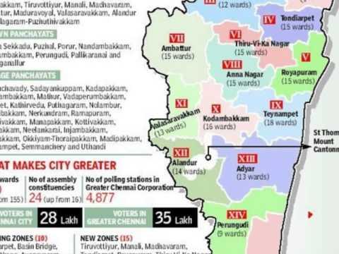 Chennai - India Map, Map of India