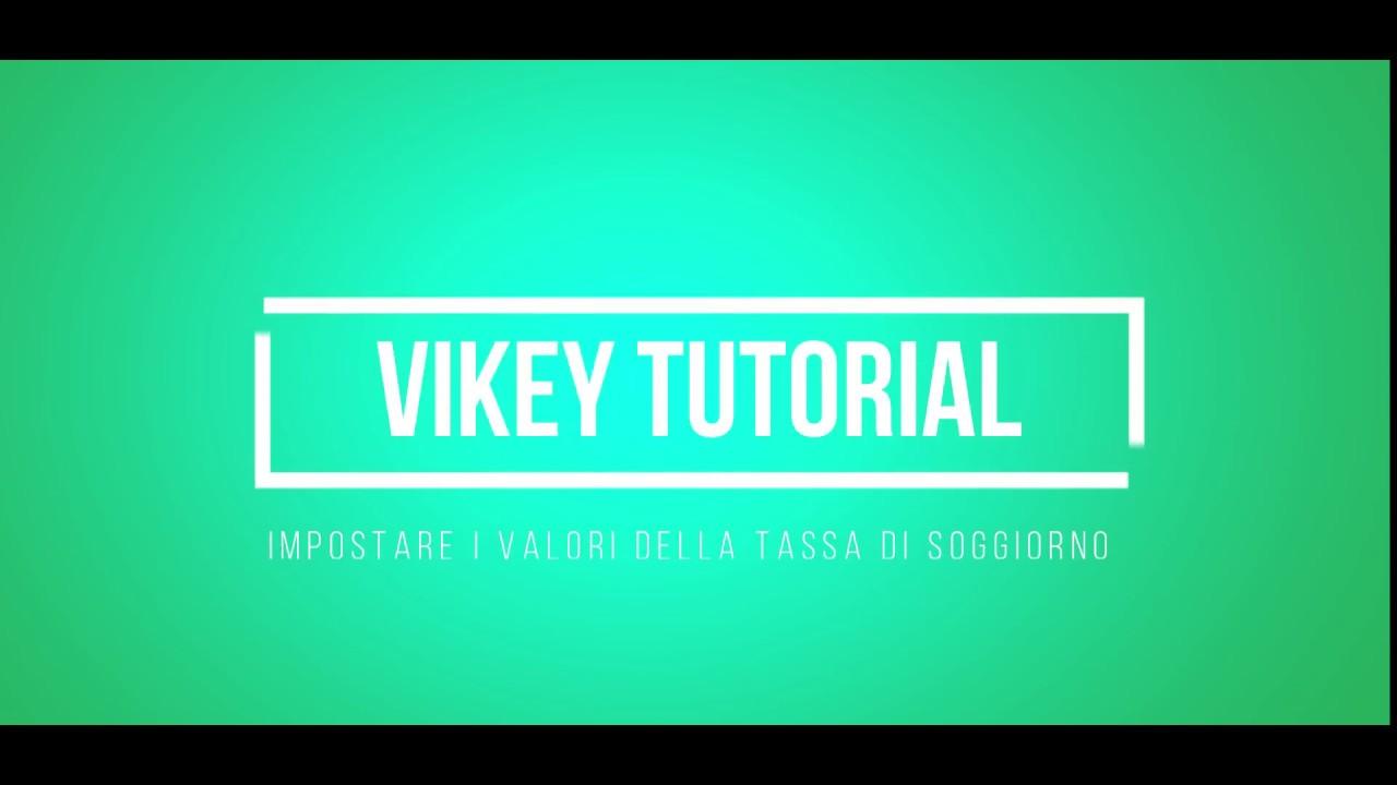 Vikey - Impostare i valori della tassa di soggiorno