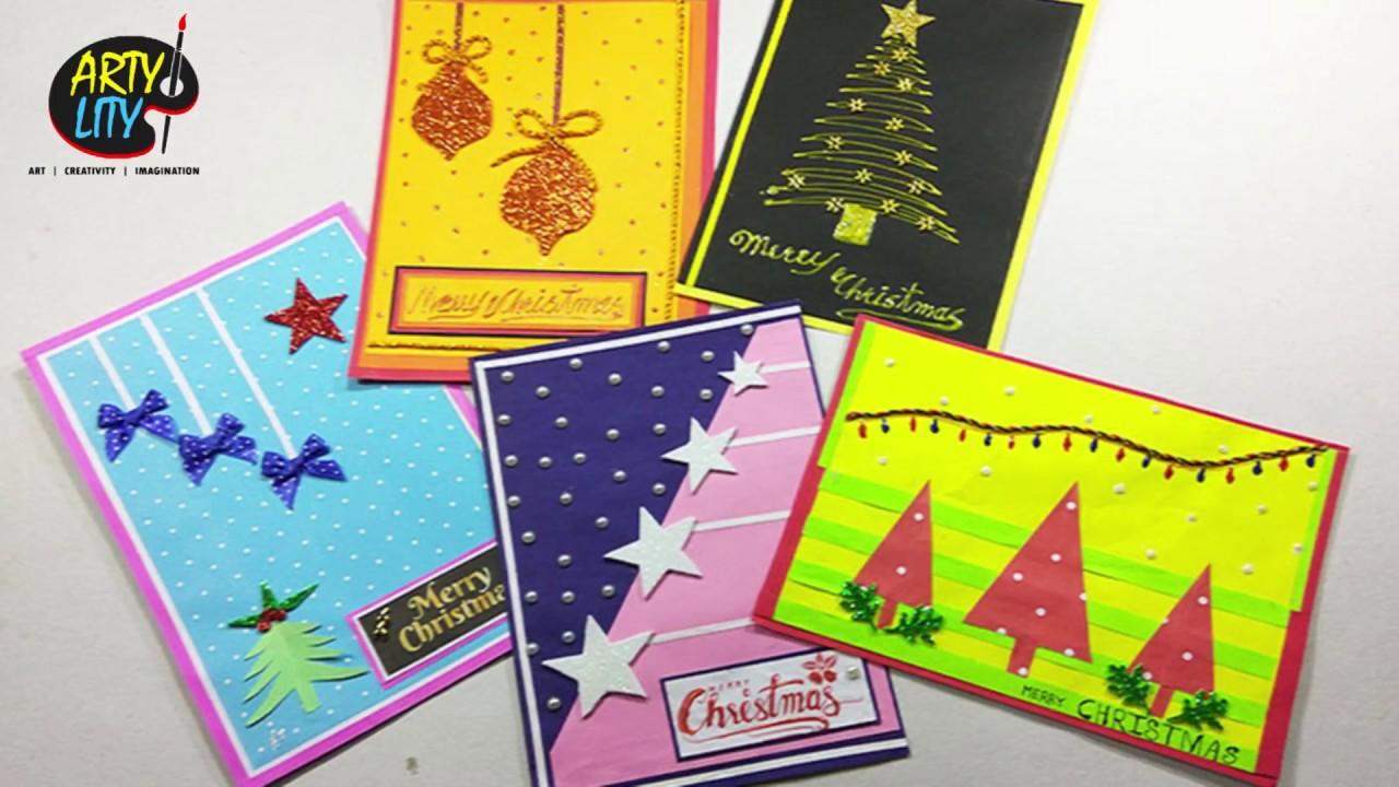 Christmas Greeting Cards Handmade.5 Diy Christmas Greeting Cards Handmade Christmas Greeting Cards