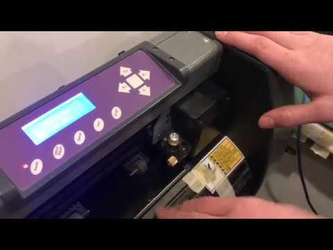 how to USE uscutter mh 871–mk2 vinyl cutter review