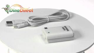 3600mAh Battery with USB Charging Cable for XBOX 360  from Dinodirect.com
