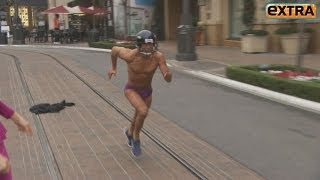 Mario Lopez Streaks in His Underwear at The Grove