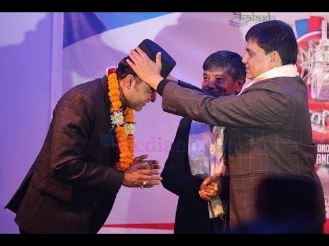 Naresh Bhattarai - Awarded by voice of Nepal