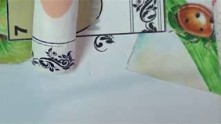Рисуем вензеля на ногтях/дизайн ногтей/роспись на ногтях/Nail art painting