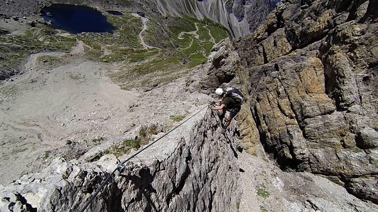 Klettersteig Verborgene Welt : Gr. sandspitze ü. gebirgsjägersteig youtube