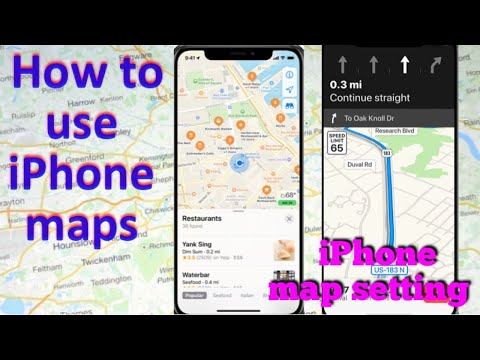 How to use iPhone maps   iPhone map settings   iPhone maps