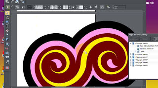 PDF designs: importing into Xara Photo and graphic Designer 6 tutorial (swirls)