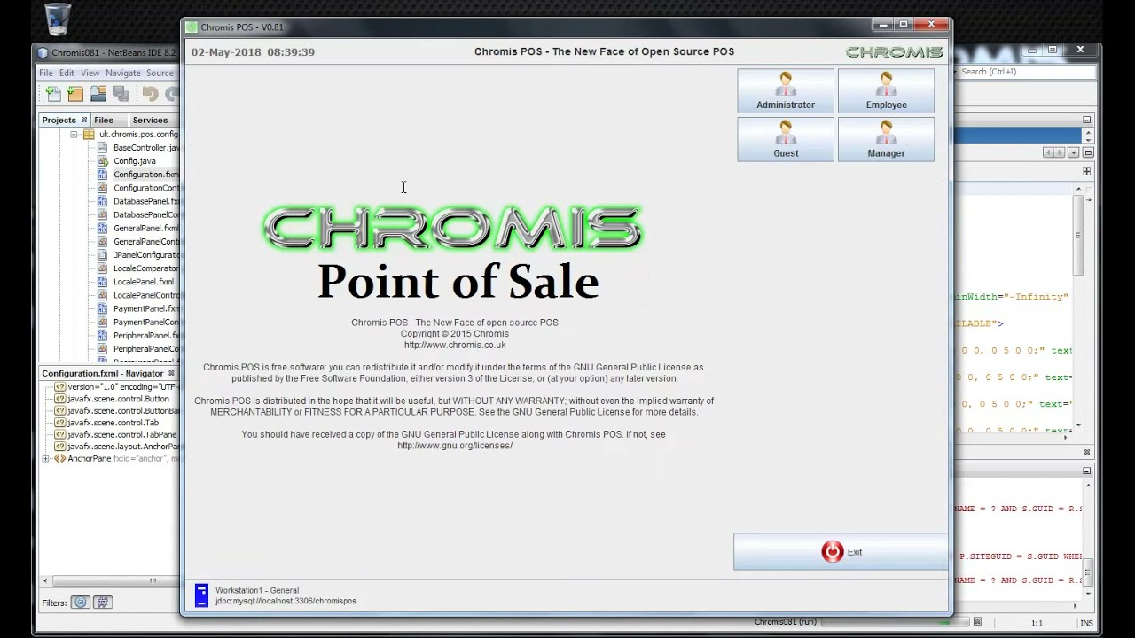 NetBeans JavaFx integration on Chromis8 1