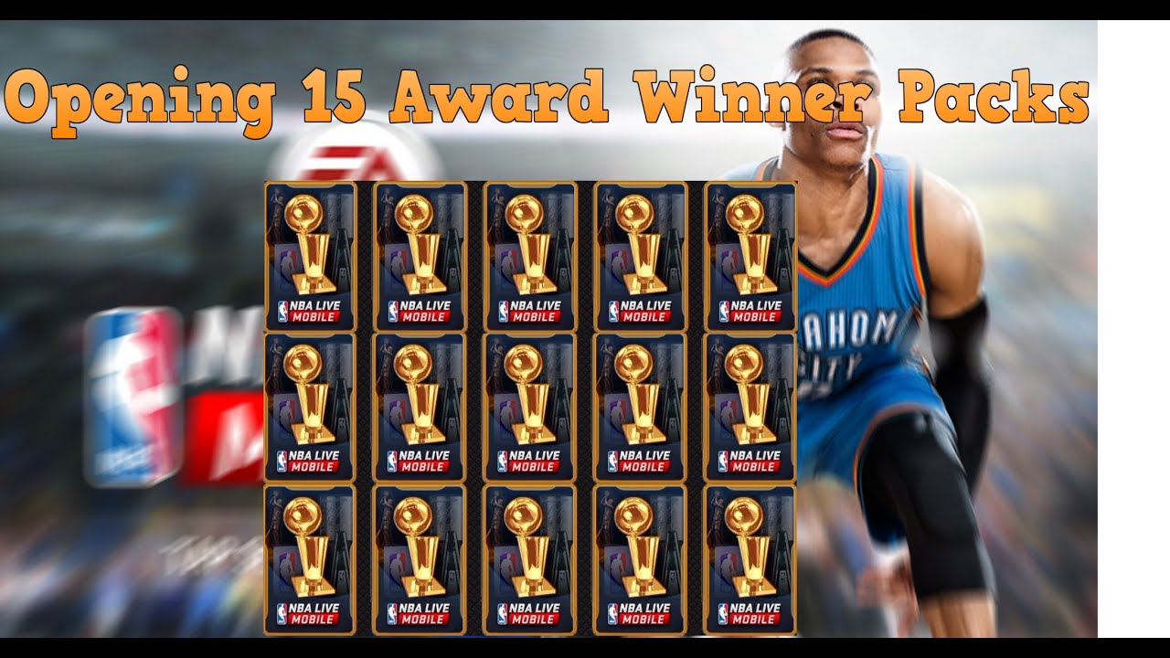 NBA Live Mobile - Opening 15 Award Winner Packs - ARE THEY RIGGED??? - YouTube
