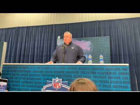 Mike McCarthy Green Bay Packers Head Coach Interview At NFL Combine Part 1