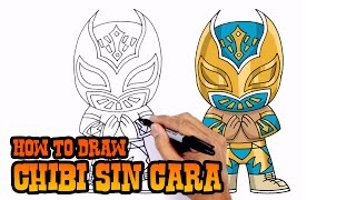 How to Draw Sin Cara (Chibi)- Art Lesson for Kids