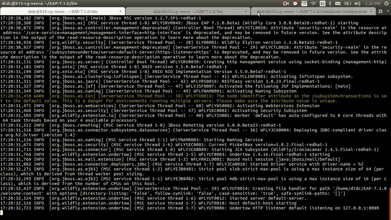 Jboss EAP 7 - Management CLI Guide ( command line Interface )