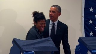 """Chicago voter to Obama: """"Don't touch my girlfriend"""""""