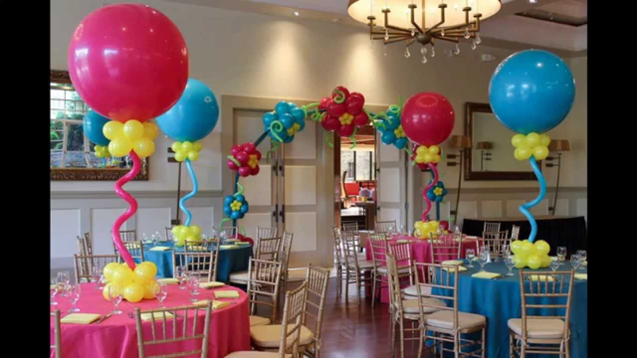 Creative baby shower balloon decorating ideas youtube for Balloon decoration ideas no helium