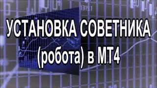 Установка советника (робота) в МТ4