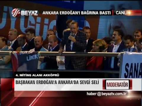 ANKARA BAŞBAKAN ERDOĞAN'I ÇOŞKUYLA KARŞILADI! - Parça 5