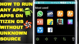 how to run and android apps on tizen without unknown source