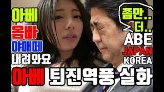 (단독)일본 아베퇴진 시위현장,한국 잘못건드렸다,탄핵되나?