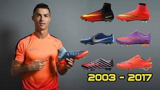 Các mầu giầy đá bóng Nike của Cristiano Ronaldo từ năm 2003 - 2017.