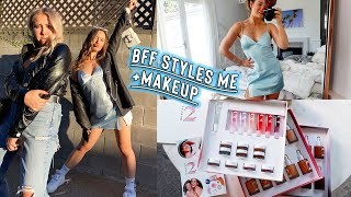 best friend styles mę + charli and dixie d'amelio's new makeup
