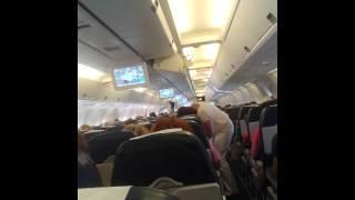 Съемка в самолете