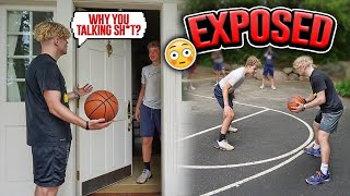 I Pulled Up To A TRASH TALKERS House! 1v1 Basketball!