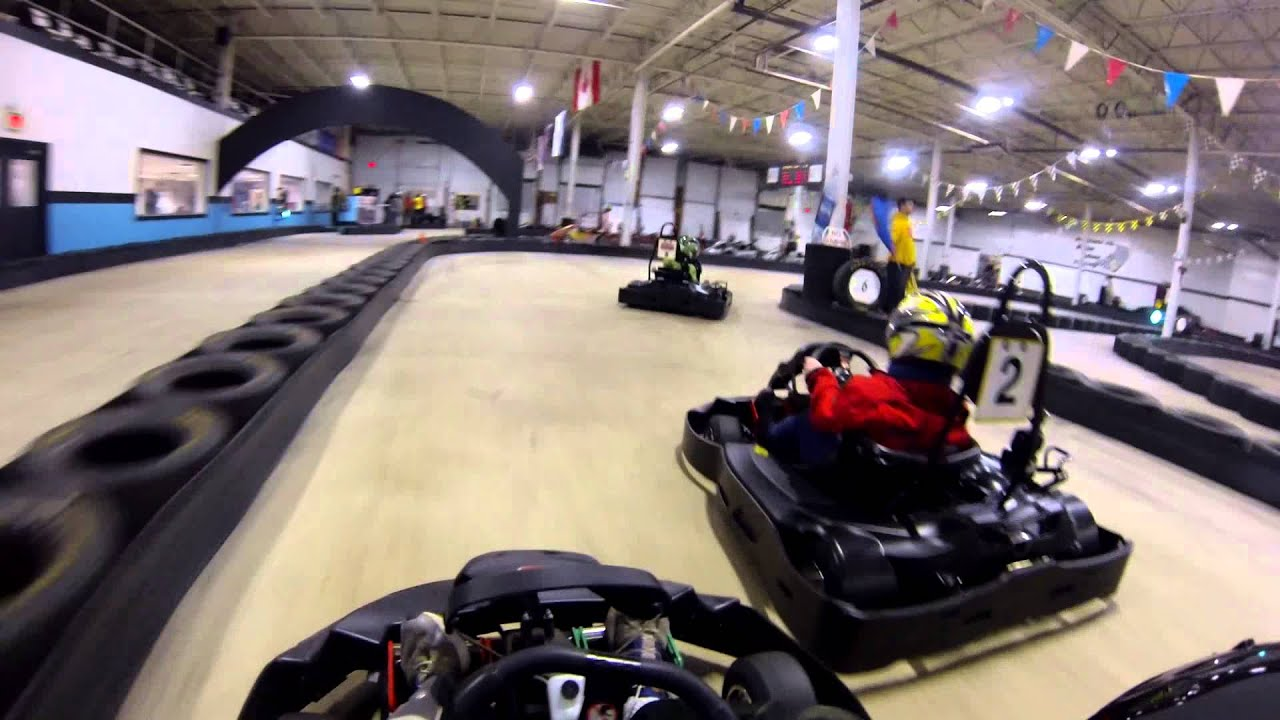 Racing At Maine Indoor Karting Track 1