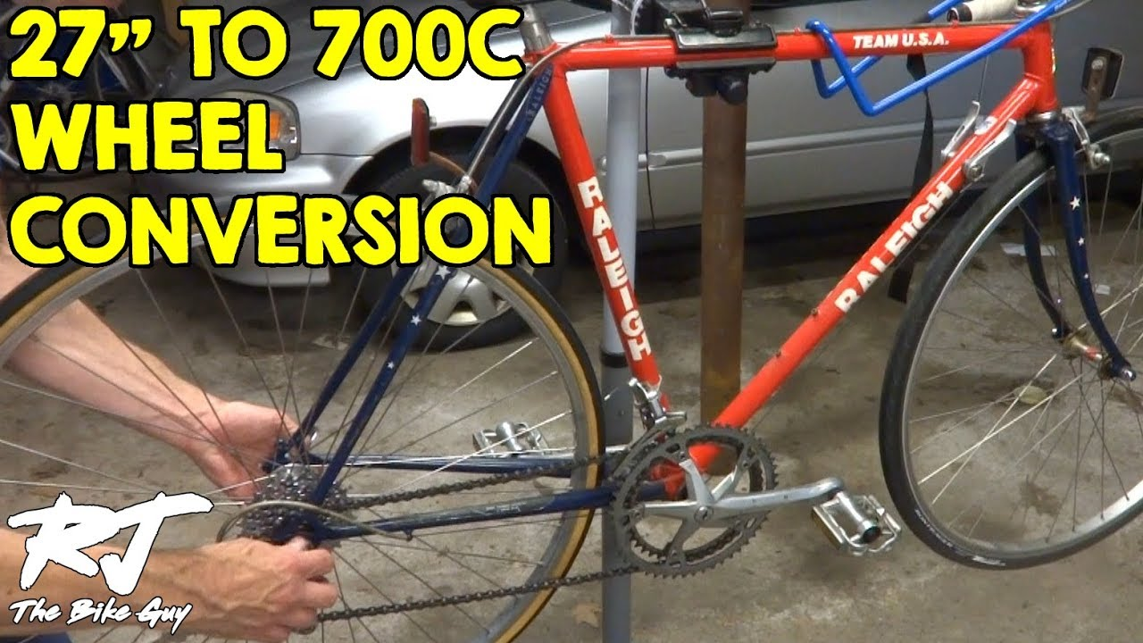 How To Do 27 Inch To 700c Wheel Conversion Vintage Bike Update