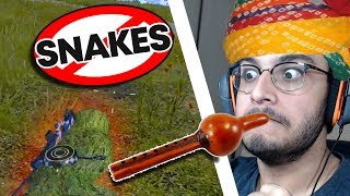 HOW TO KILL SNAKES (SECRET TRICK REVEALED) | PUBG MOBILE HIGHLIGHTS | RAWKNEE