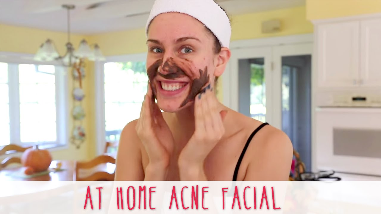 At home acne facial how to give yourself a facial at home youtube solutioingenieria Images