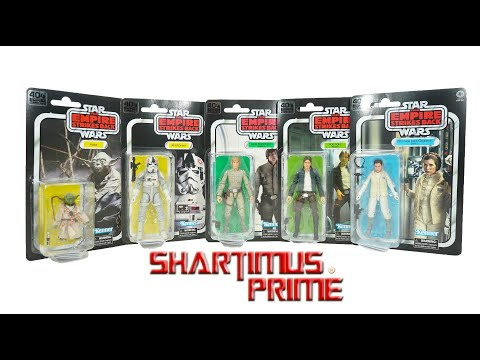 Star Wars 40th Anniversary Empire Strikes Black Series Wave 1 Vintage Hasbro Action Figure Review