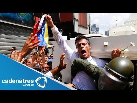 Leopoldo López, líder opositor venezolano, se entrega a la justicia; Maduro arguye golpe de Estado