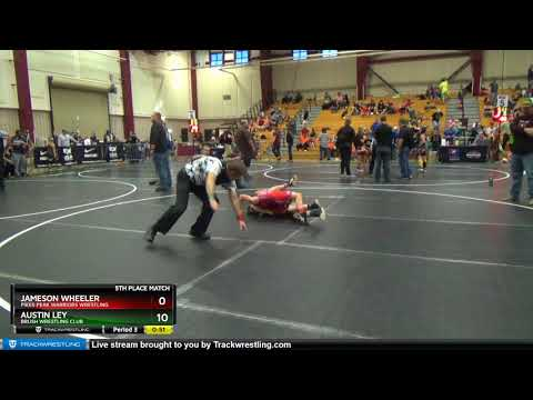 Intermediate 84 Austin Ley Brush Wrestling Club Vs Jameson Wheeler Pikes Peak Warriors Wrestling