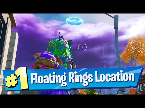 Collect Floating Rings At Lazy Lake Locations - Fortnite Battle Royale