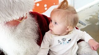 BABY MEETS SANTA for the FIRST Time!